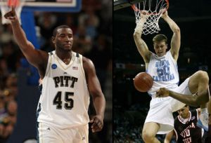 Both Pitt's Dajuan Blair and North Carolina's Tyler Hansbrough represent the cream of the crop in their respective leagues. But which league would win a head to head matchup?